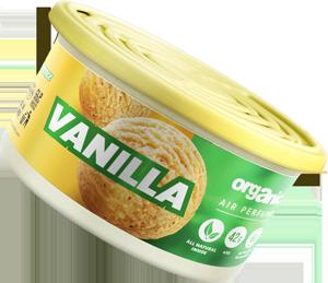 Vůně do auta Organic plechovka s víčkem Vanilla 42 g