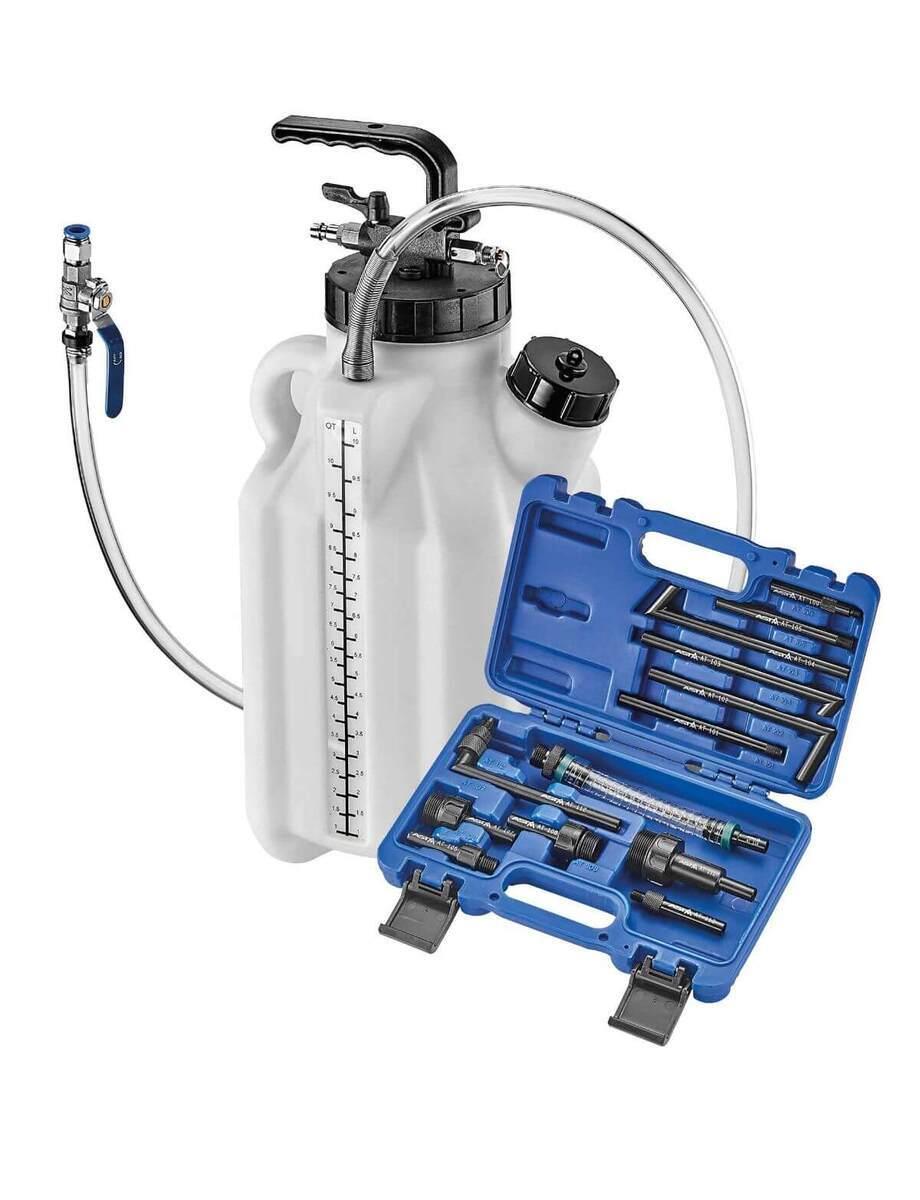 Pneumatická plnička a odsávačka oleje ATF do automatických převodovek, s adaptéry - ASTA
