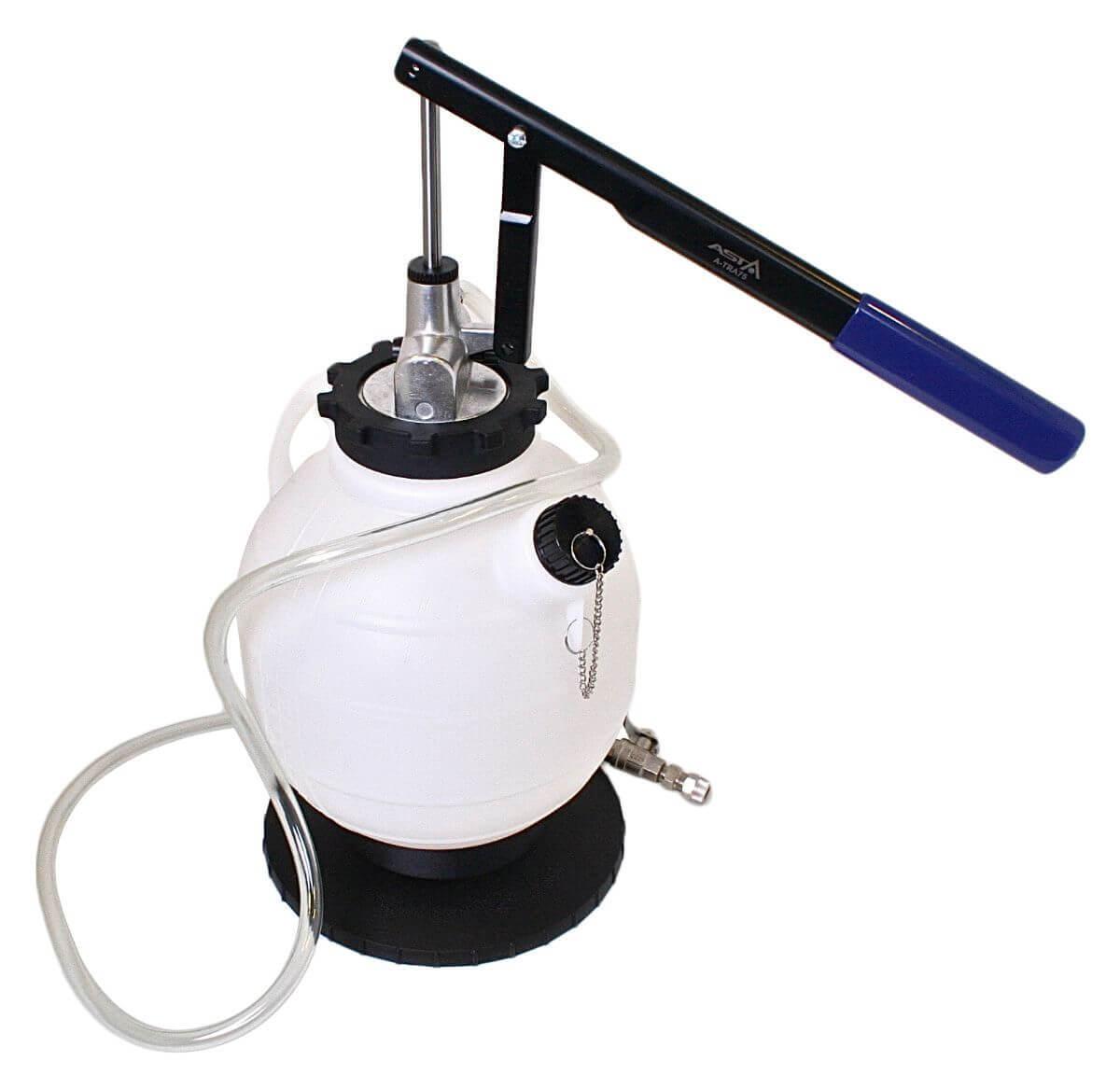 Pneumatická plnička oleje ATF do automatických převodovek, 7.5 litru, 20 adaptérů