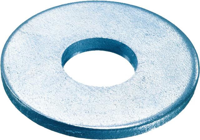 Podložky pod nýty 6,4x18x1,6 mm, DIN 9021, pozinkované, sada 100 ks