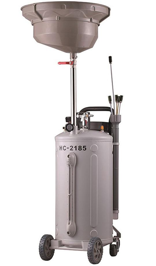 Pojízdná olejová jímka s odsávačkou, objem 76 litrů - HC-2185
