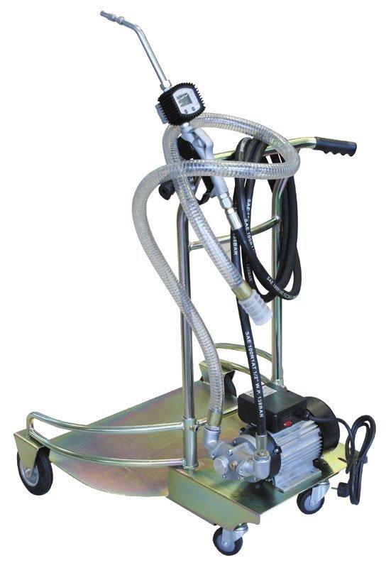 Pojízdná olejová výdejní souprava pro sudy 180 - 220 l, elektrické čerpadlo