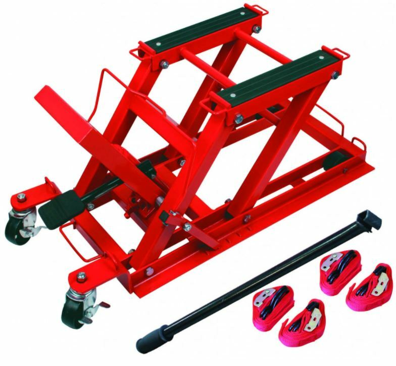 Zvedák hydraulický pojízdný - paralelogram, nosnost 400 kg, pro motocykly