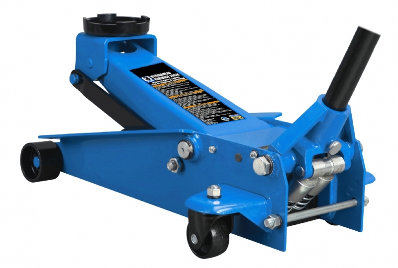 Pojízdný hydraulický zvedák 3t, s dvojitou pumpou, 130-465 mm - QUATROS QS19131Q