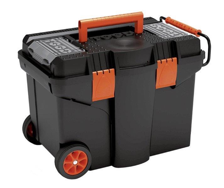 Pojízdný kufr, 580 x 380 x 410 mm, plastový, 2 organizéry, 1 přihrádka