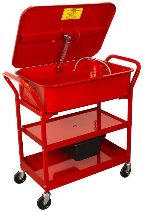 Pojízdný mycí stůl, objem 75 litrů, pro čištění dílů