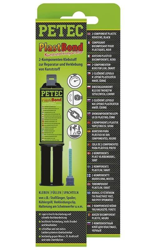 Lepidlo na plasty PlastBond, polyuretanové, černé, 24 ml - Petec