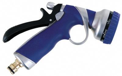 Postřikovací pistole na vodu, regulovatelná 8 poloh, kovová