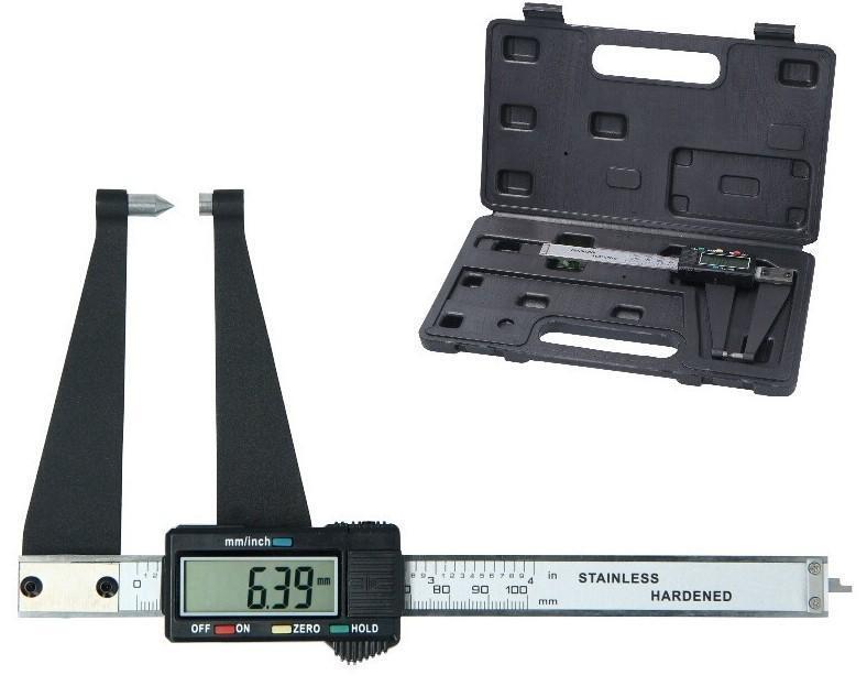 Posuvné měřítko - kalibr na měření brzdových kotoučů, digitální, 100 mm