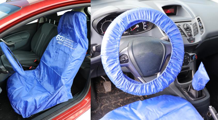 Pracovní potah předního sedadla, volantu a řadicí páky, polyester - BGS 66531