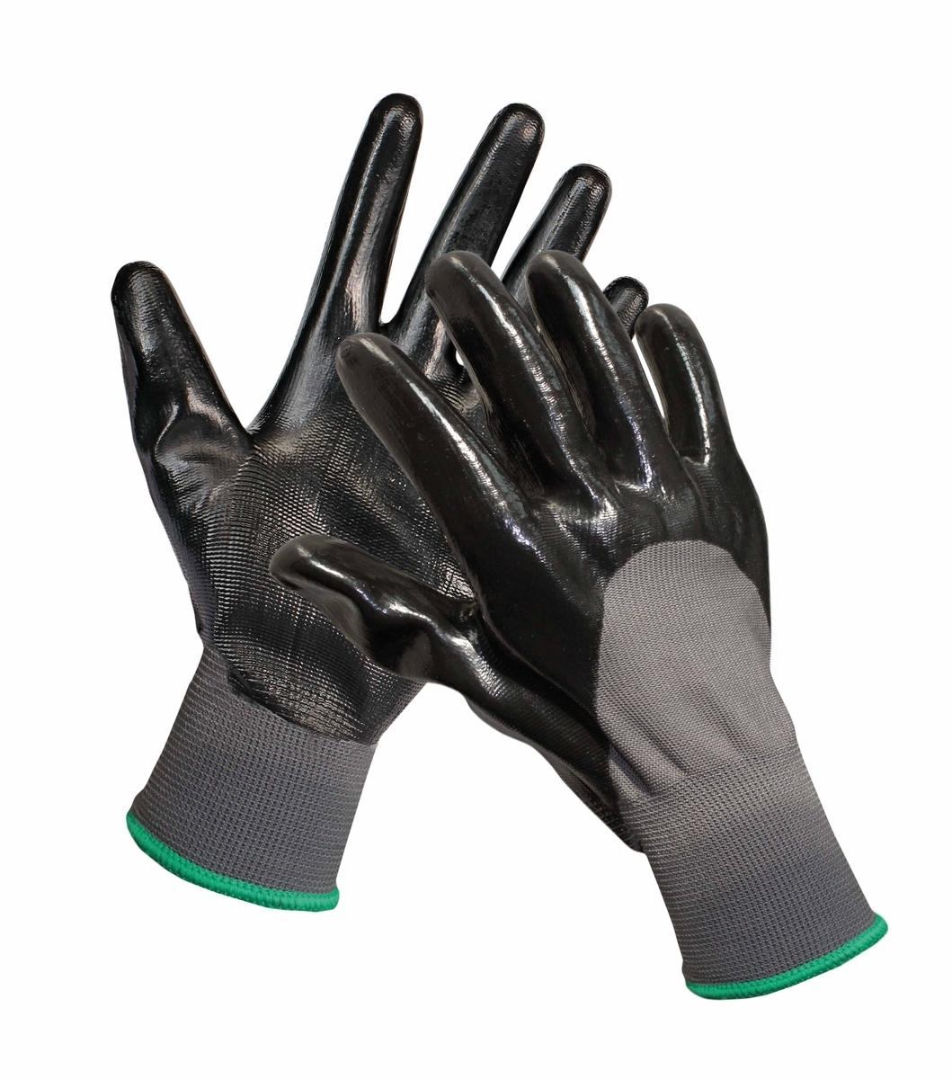 Pracovní rukavice FIELDFARE, máčené ze 3/4 v nitrilu,nepropustná vrstva, vel. 10