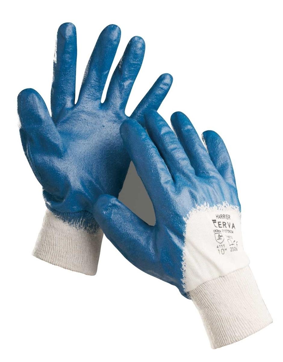 Pracovní rukavice HARRIER, polomáčený nitril, velikost 10