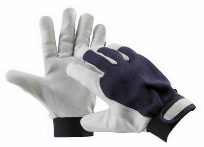Pracovní rukavice PELICAN BLUE, kozinková dlaň, velikost 11