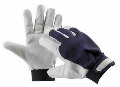 Pracovní rukavice PELICAN BLUE, kozinková dlaň, velikost 8