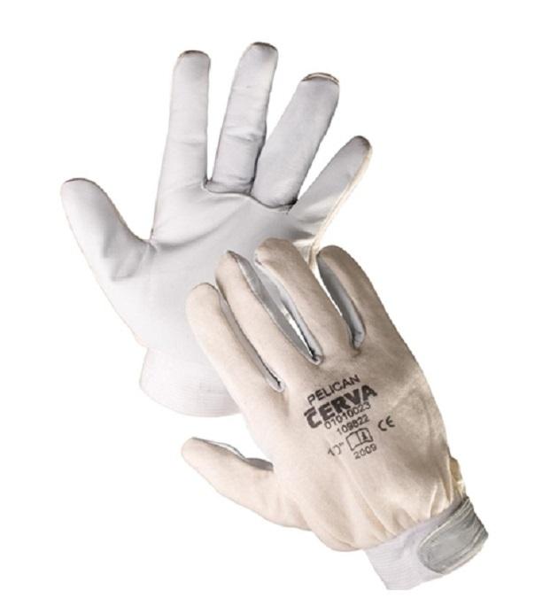 Pracovní rukavice PELICAN, s kozinkovou dlaní, velikost 10