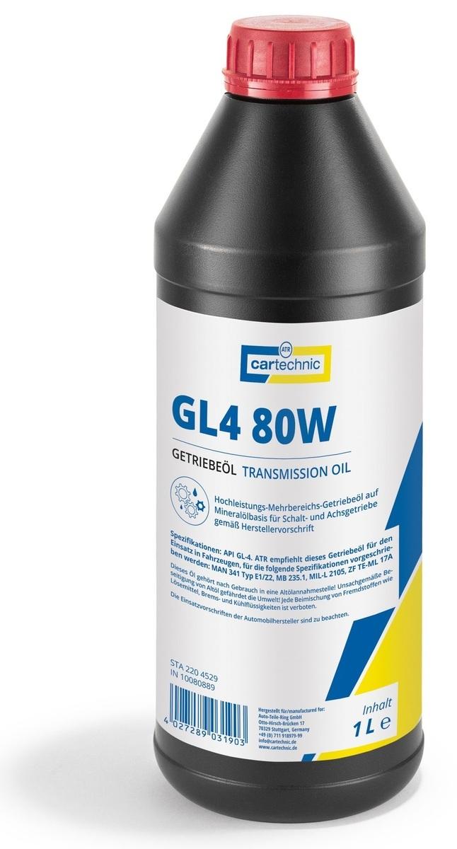 Převodový olej GL4 80W-90, pro manuální převodovky, 1 litr - Cartechnic