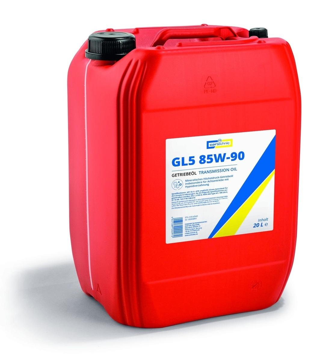 Převodový olej GL5 85W-90, pro velmi namáhané převodovky, 20 litrů - Cartechnic