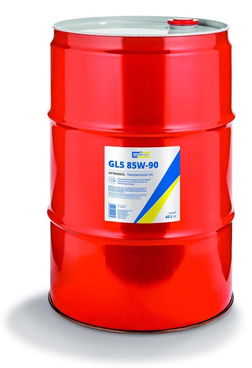 Převodový olej GL5 85W-90, pro velmi namáhané převodovky, 600 litrů - Cartechnic