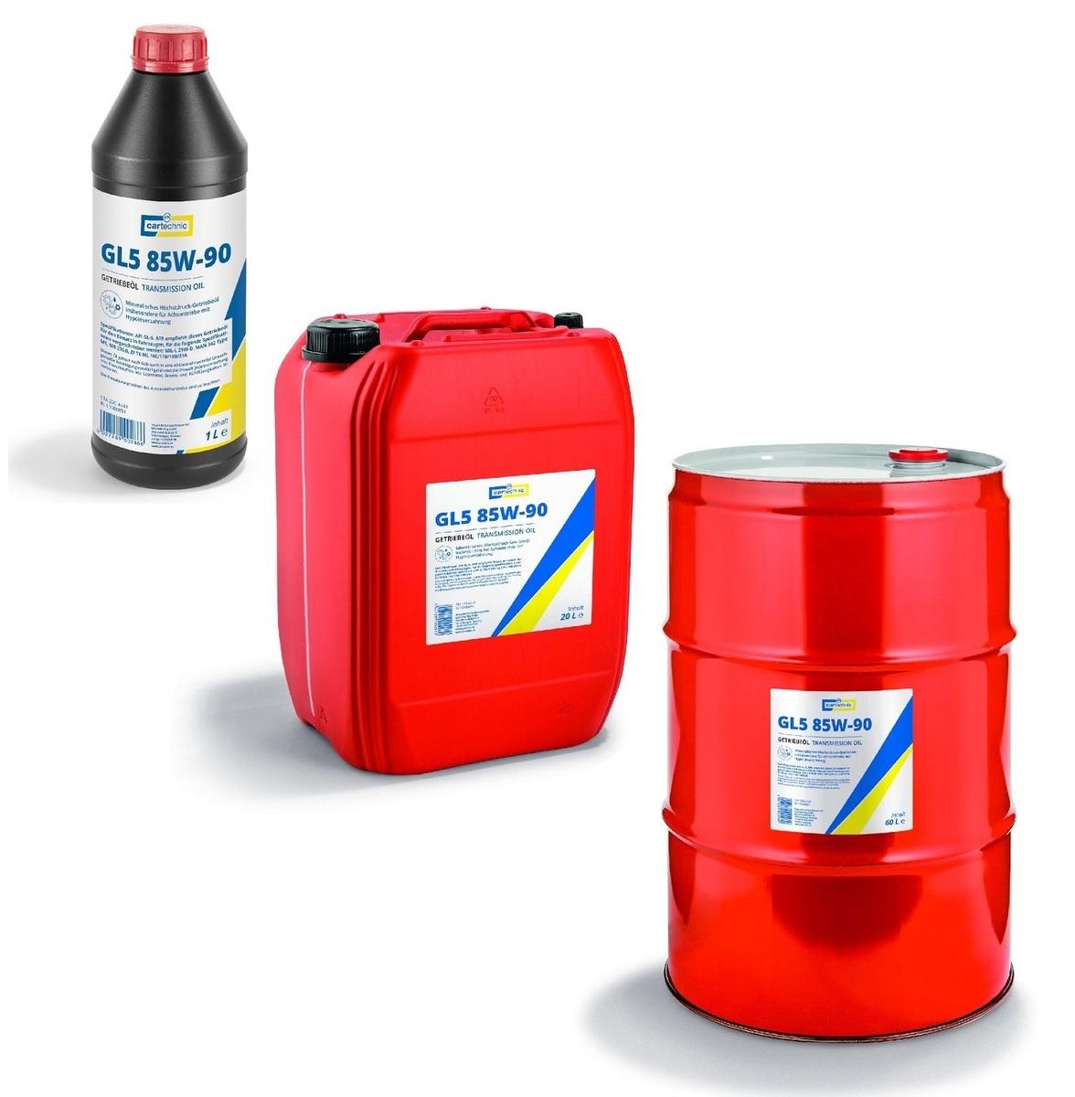 Převodový olej GL5 85W-90, pro velmi namáhané převodovky, různé objemy - Cartechnic