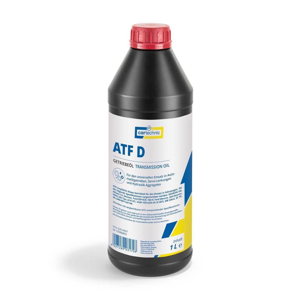 Převodový olej, kapalina do posilovačů řízení ATF D, univerzální, 1 litr - Cartechnic
