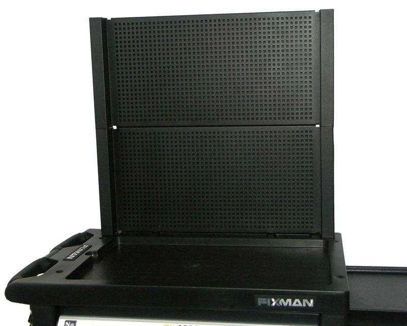 Přídavná zadní stěna k dílenskému vozíku, 653 x 602 x 56 mm - Fixman
