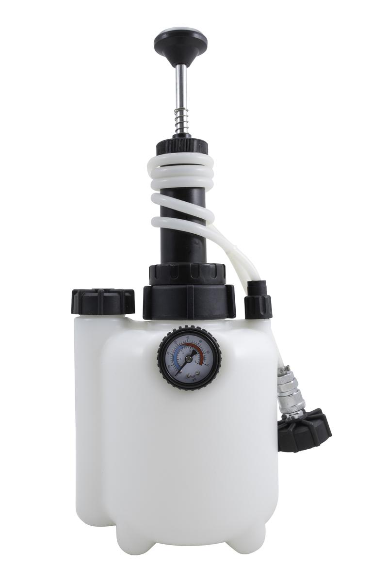 Přípravek na výměnu a odvzdušnění brzdové a spojkové kapaliny, 2,5 litru - QUATROS QS70789