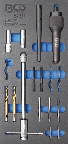 Přípravek pro odvrtání a opravu závitu žhavících svíček M8x1,0 a M10x1,0 - BGS