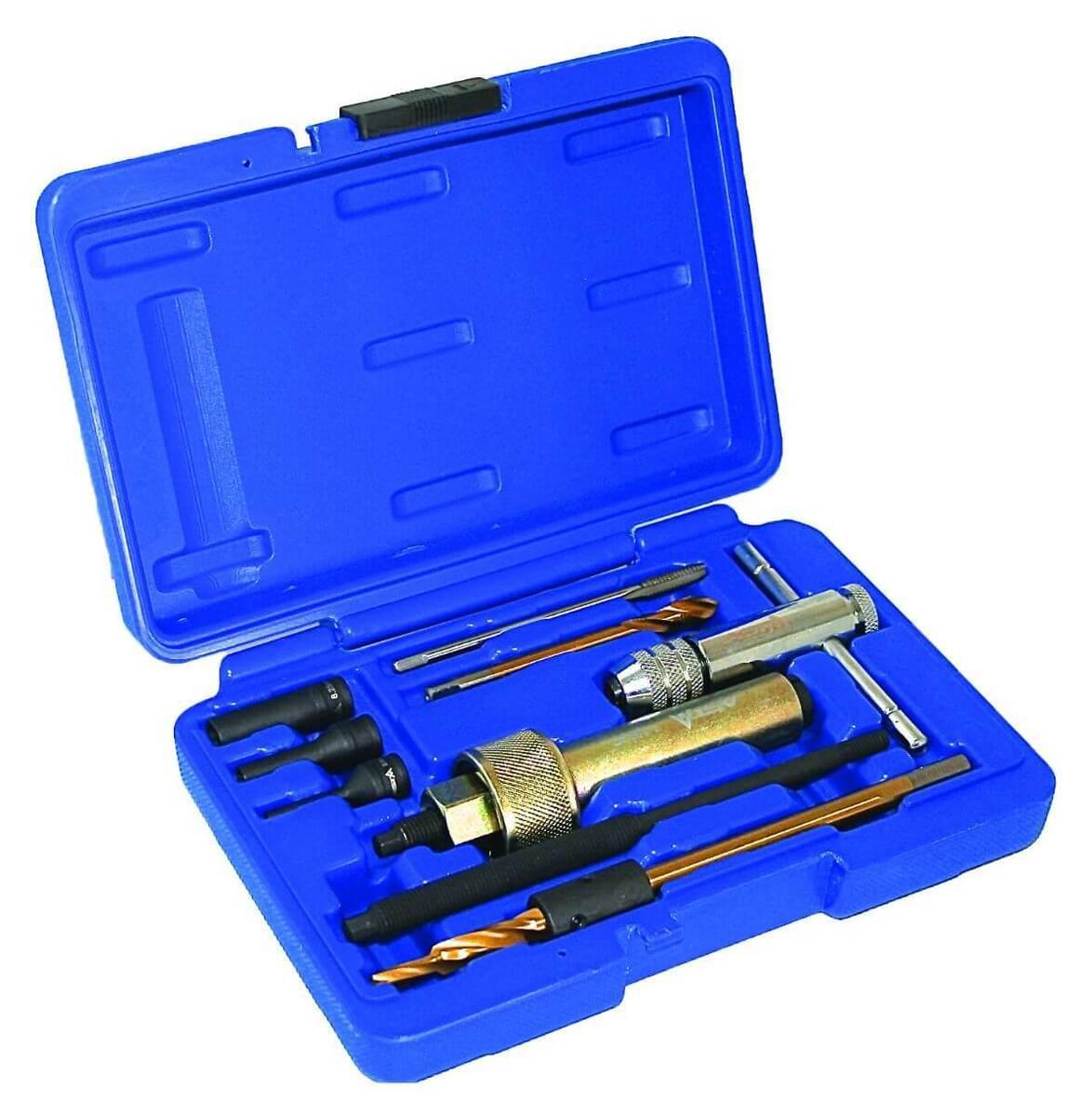 Vytahovák na demontáž žhavicích svíček, závit M9 x 1.0 mm, sada 9 dílů - ASTA