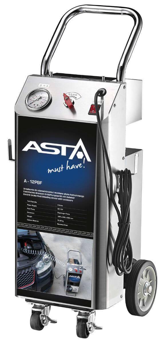 Přístroj na odvzdušnění brzd a plnění brzdové kapaliny, 5 litrů, elektrický - ASTA