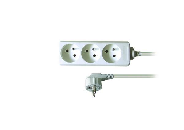 Prodlužovací kabel - 3 zásuvky, 5m - bílý