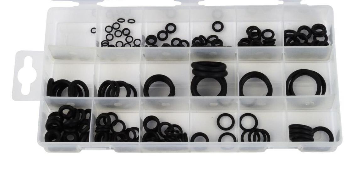 Profi o-kroužky odolné proti olejům, kyselinám a benzínu, 3 - 12 mm, 225 kusů
