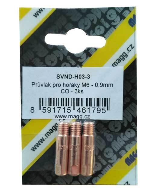 Průvlak pro hořáky M6 - 0,9 mm CO - 3 kusy
