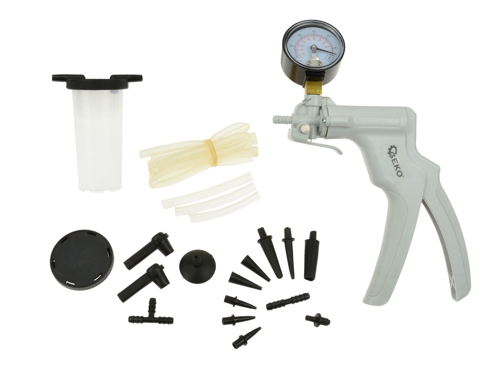 GEKO G01157 Pumpa vakuová, na měření a vytváření podtlaku, s příslušenstvím