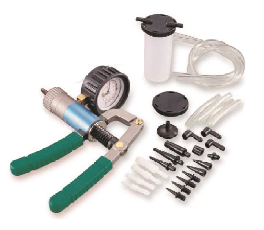 Pumpa vakuová na měření, vytváření tlaku a podtlaku, s příslušenstvím - JONNESWAY AI040031