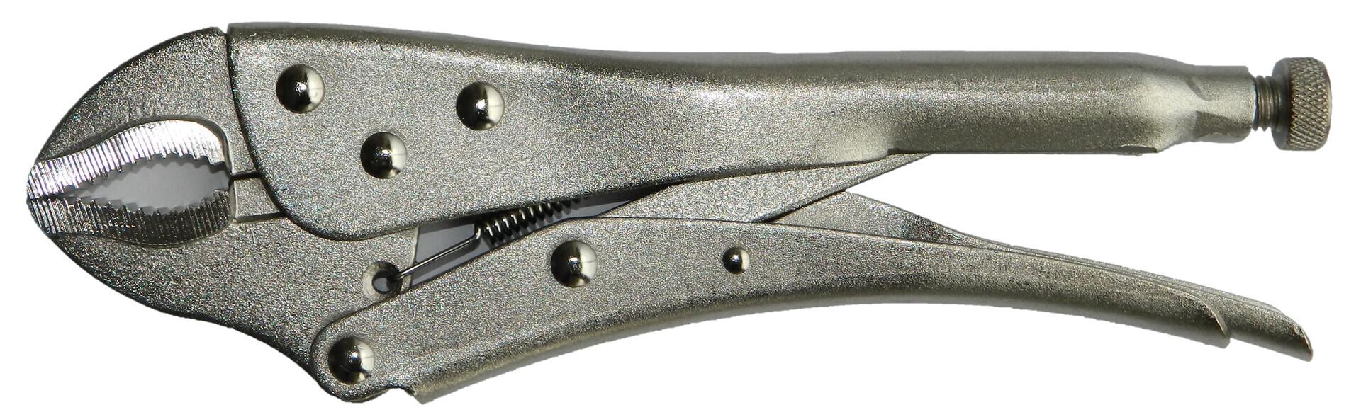 Rychloupínací, samosvorné kleště 250 mm, oblé čelisti - QUATROS QS53018