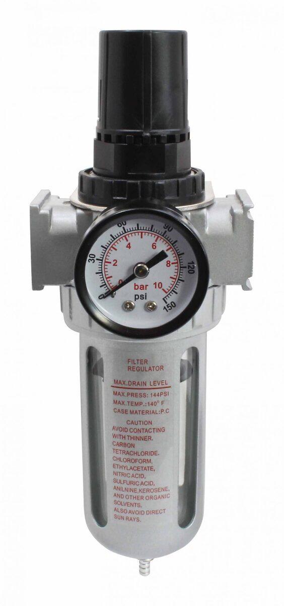 "Regulátor tlaku vzduchu - odlučovač vody 1/2"", max. 10 bar - SATRA"