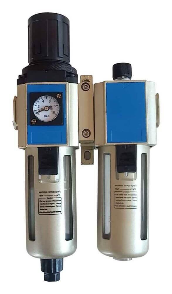"""Regulátor tlaku vzduchu 1/2"""", s odlučovačem a mazáním - ASTA"""