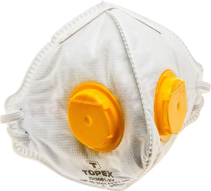 Respirátor, maska FFP1, 2 ventily