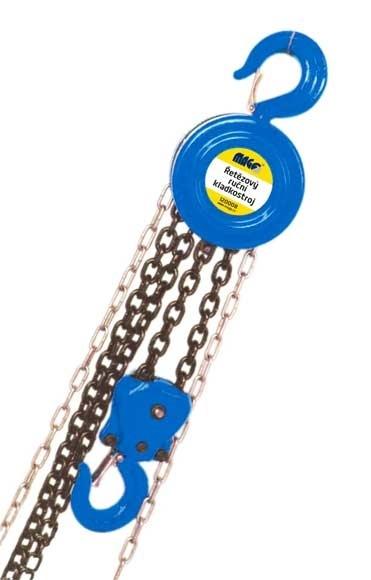 Řetězový kladkostroj ruční - tzv. kočka, nosnost 1 t, zdvih 3 m - MAGG 120007
