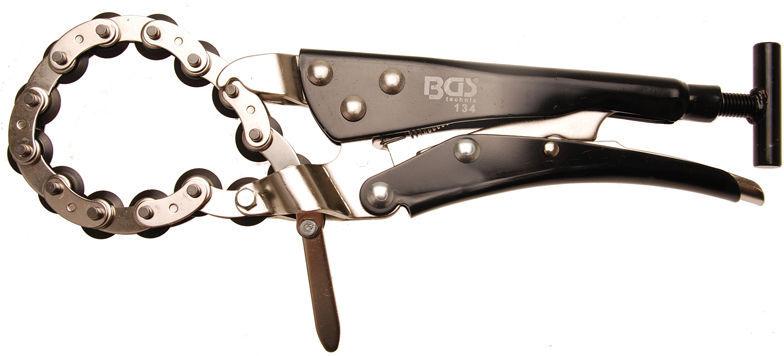 Řezací kleště na trubky a výfuky, s řetězem - BGS 134