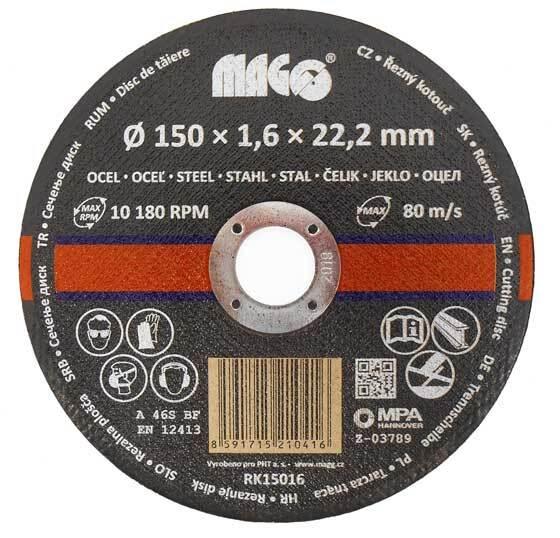Řezný kotouč na kov 150 x 1,6 x 22,2 mm MAGG
