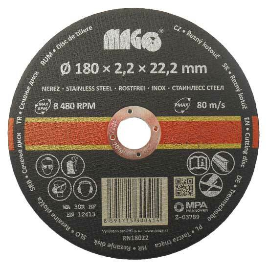 Řezný kotouč na nerez 180 x 2,2 x 22,2 mm MAGG