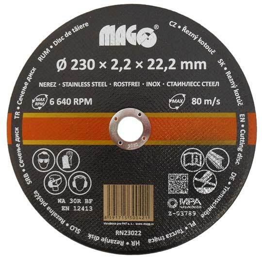 Řezný kotouč na nerez 230 x 2,2 x 22,2 mm MAGG