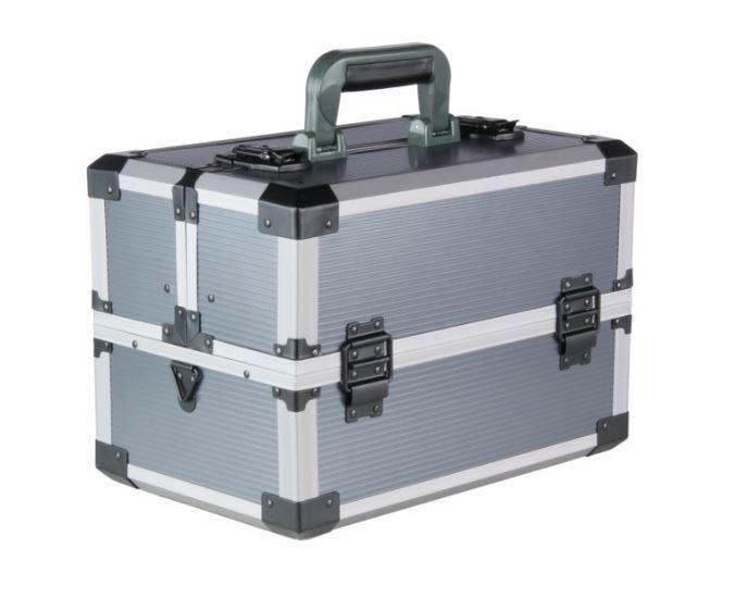 Rozkládací montážní kufr na nářadí, plast-hliník, 360 x 226 x 250 mm - MAGG ALK1226