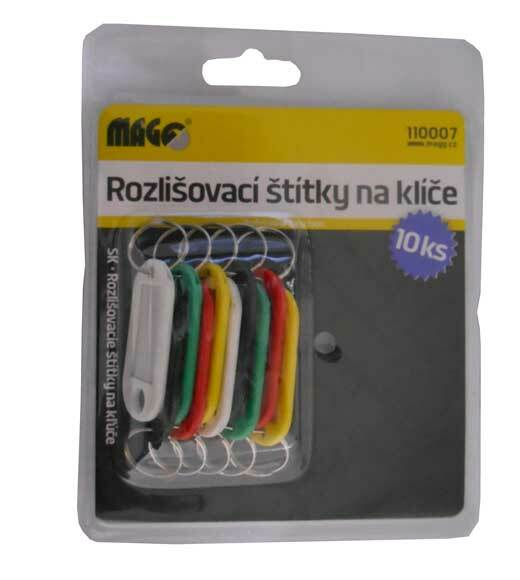 Rozlišovací štítky na klíče - klíčenky, sada 10 kusů