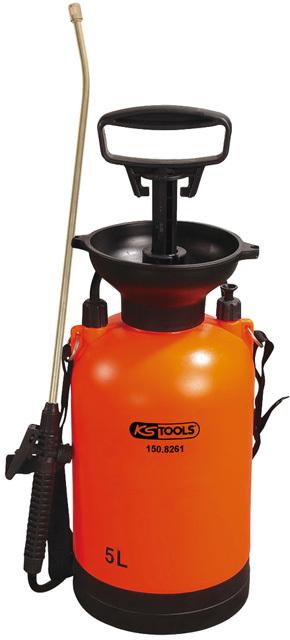 Rozprašovač s tlakovým čerpadlem a hadicí, nádoba 5l - KS TOOLS 150.8261