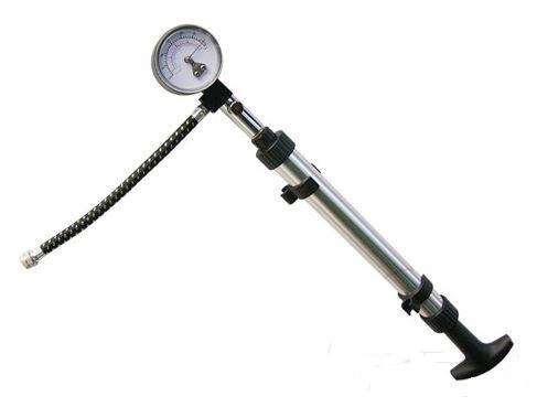 Pumpa vzduchová ruční, na moto vidlice, tlumiče a pneumatiky, manometr 0.1-4.0 bar