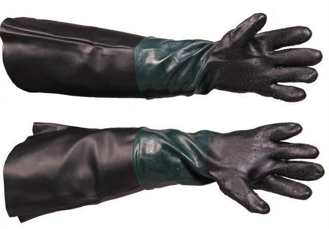 Rukavice ochranné pro pískování, délka 26 cm