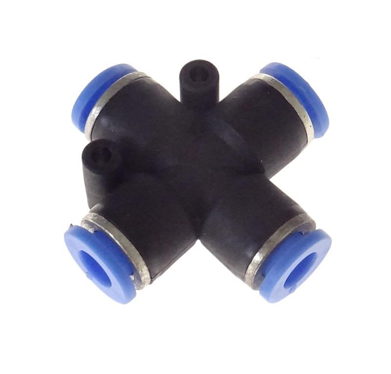 Rychlospojka hadicová křížová - roztrojka 6 mm, plast