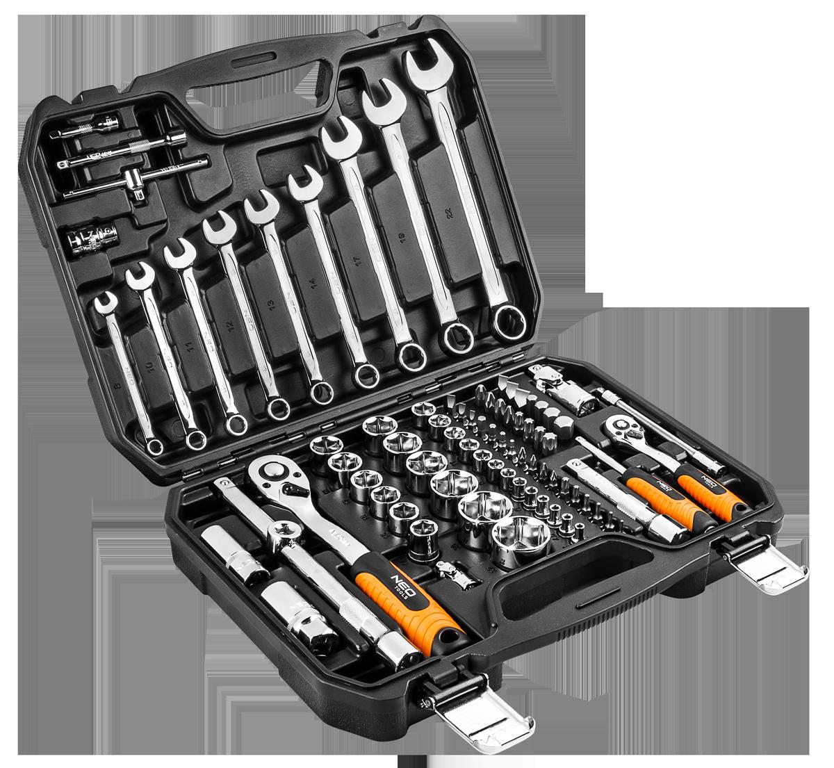"Gola sada 1/2"", 1/4"", 82 ks, CrV NEO tools 08-672"